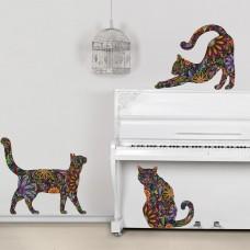 Стикер Трио кошек