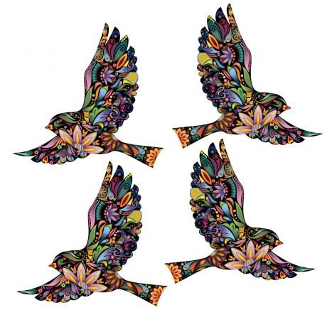Стикер Летящие птицы