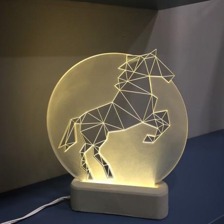 Лампа Конь полная луна
