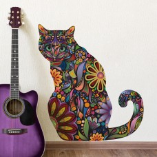 Стикер Сидящая кошка
