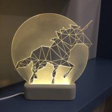 Лампа Единорог полная луна