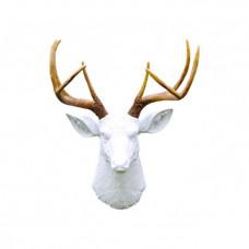 Олень белый натуральные рога