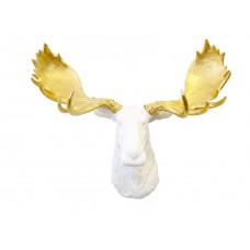 Лось белый золотые рога
