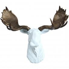 Лось белый бронзовые рога