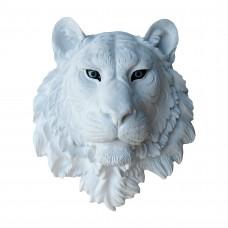 Тигр белый голубые глаза