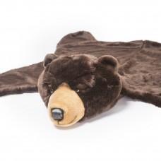 Ковер темно-коричневый медведь